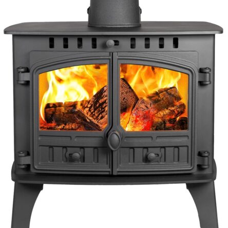 Hunter Herald 14 Double Sided Single Depth Wood burning Only Stove